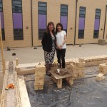 Liz sees how building is progressing at New College
