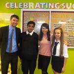 Liz meets students at Fullhurst to discuss recycling in schools
