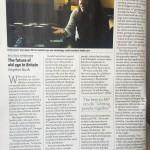 The future of old age in Britain (New Statesman, 9th April)