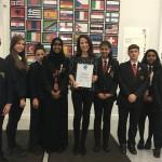 Congratulating Babington Community College on their Discovering Democracy Award