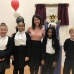 Liz attends opening of Forest Lodge school