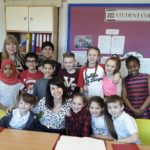 Liz quizzed by Parks Primary School Council