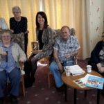 Liz meets with residents at the Quadrant