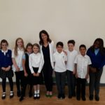Liz meets pupils from St Mary's Fields Primary School