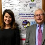 Liz and Police and Crime Commissioner discuss officer numbers