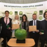 Liz presents environment award to Great Ormond Street Hospital
