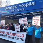 Liz joins campaigners at Glenfield