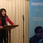 Liz speaks at Shared Lives reception