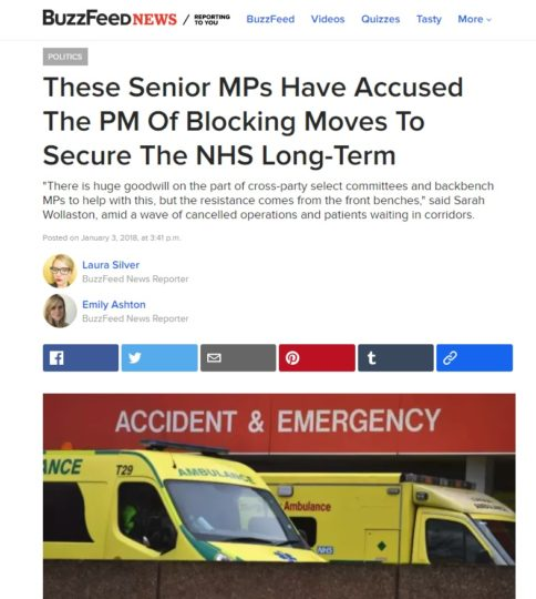 Liz Interviewed By Buzzfeed About The NHS And Social Care
