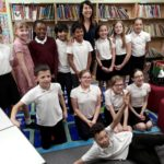 Liz meets Glebelands Primary School pupils