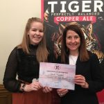 Liz marks National Apprenticeship Week with award for brewery employee