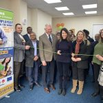 Liz opens new office for Leicester homeless charity