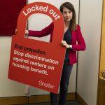 Liz back's Shelter campaign