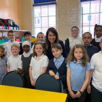 Liz visits Shaftesbury Junior School