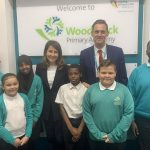 Liz visits Woodstock Primary School