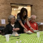 Liz joins lunch at the Oak Centre