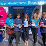 Liz pops into Cancer Research Roadshow