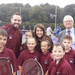 Liz helps open new Tennis and Netball Courts