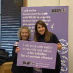 Liz reaffirms commitment to the WASPI campaign