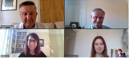 Image of an online meeting between Liz Kendall and members of the Foxes Trust