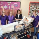 Liz meets with Health and Social Care Students